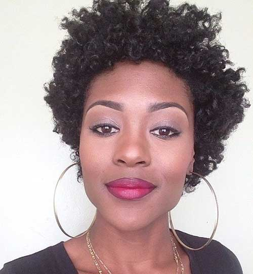 Beautiful Short Curly Afro Hairstyles