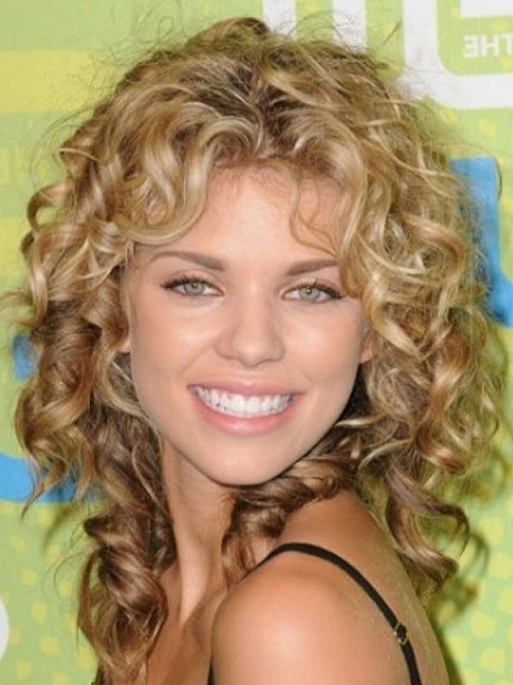 Curly Hairstyles For Short To Medium Length Hair : Medium length curly hairstyle for thick hair fave hairstyles