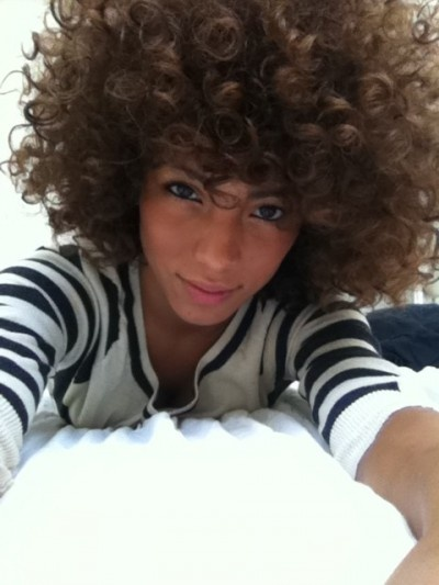curly afro hairstyle