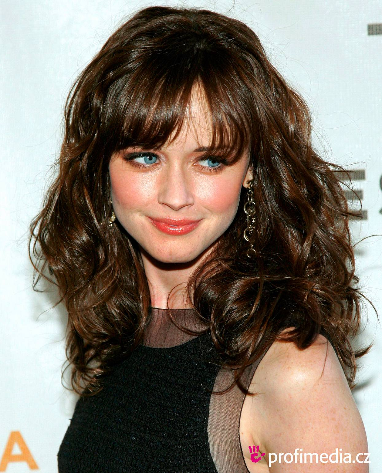Long Curly Haircuts with Bangs