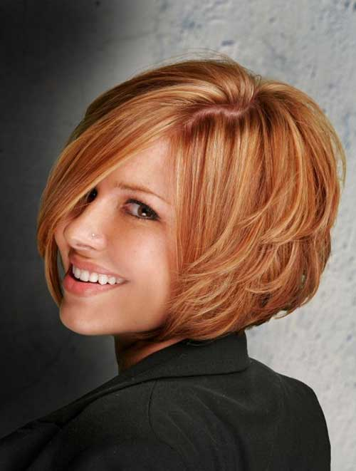 Copper Blonde Short Layered Haircut for Women
