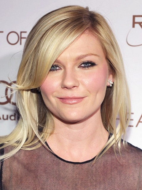 Shoulder-Length Hairstyles with Side Bangs