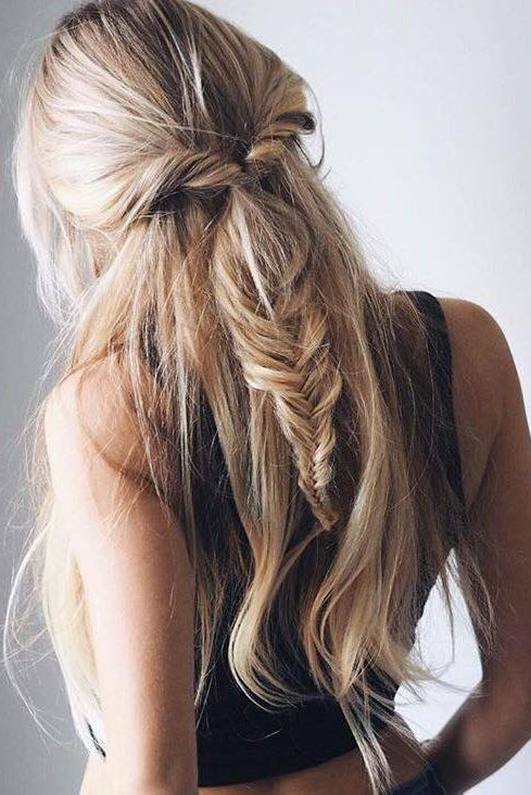 prom hairstyles fishtail